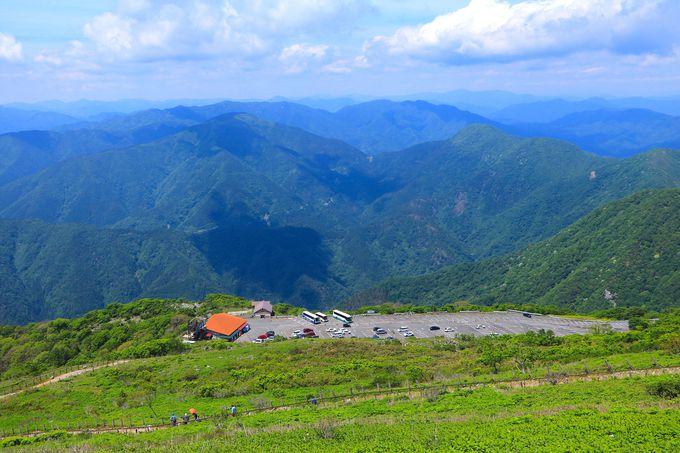 伊吹山の山頂周遊ルートが気持ちいい!車でもアクセス可能