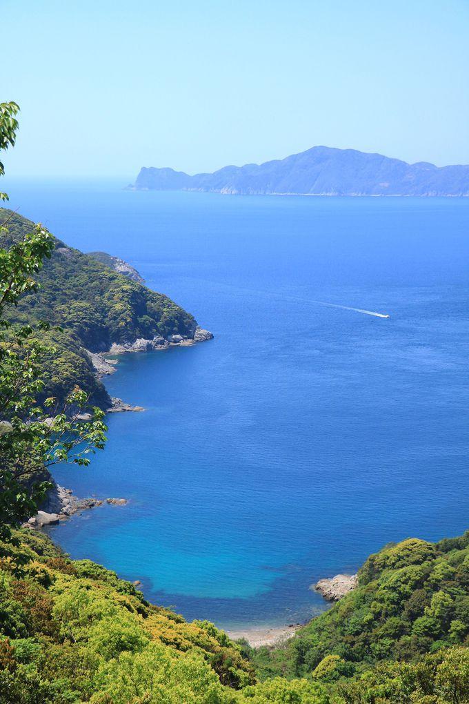 複雑な海岸線と真っ青な海!「米山展望台」360度の絶景