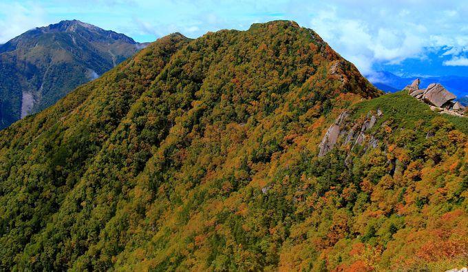 南アルプスと紅葉のコラボレーションは感動必至の美しさ