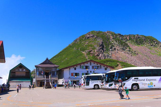 バスで楽々標高2700mへ!途中の移動も絶景