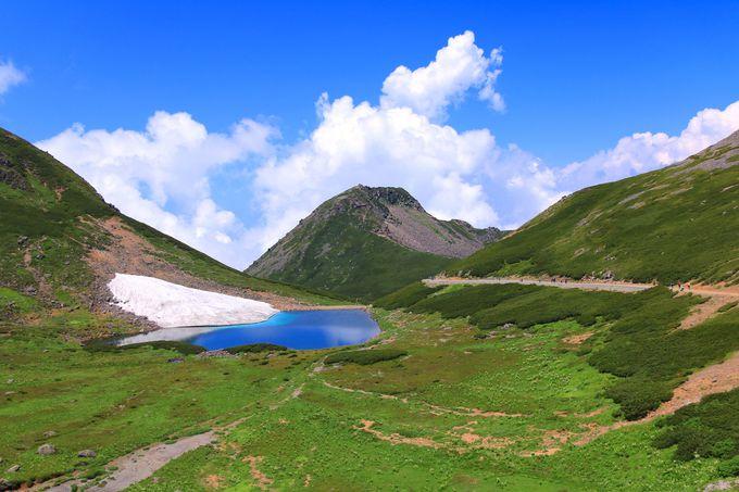 剣ヶ峰登山で立ち寄ろう「富士見岳」から眺める畳平と鶴ヶ池