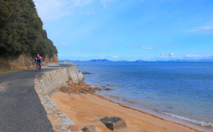 横島が誇る秘境ビーチ「横山海岸海水浴場」は心洗われる絶景