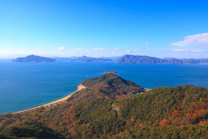 エリア随一の大展望!王城切石山公園から眺める瀬戸内海