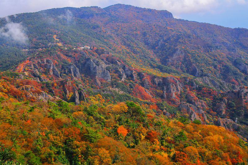 日本三大渓谷美「寒霞渓」と紅葉のコラボ!瀬戸内海「小豆島」の秋