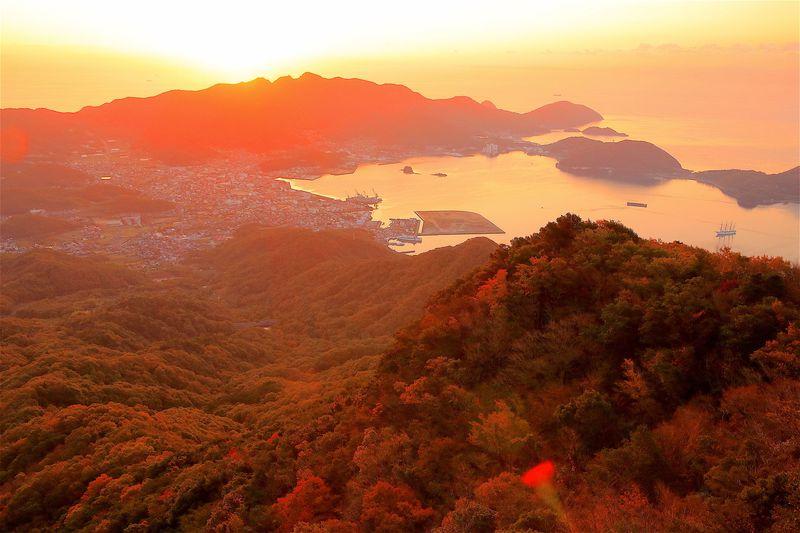 オレンジ纏う秋の大渓谷!旧小豆島ヴィラ「一枚岩」で見る奇跡の紅葉