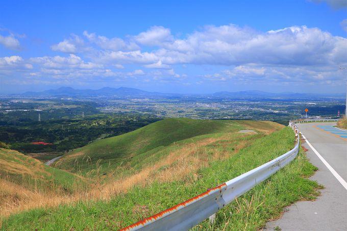 熊本市街を一望!風車が印象的な「俵山峠」