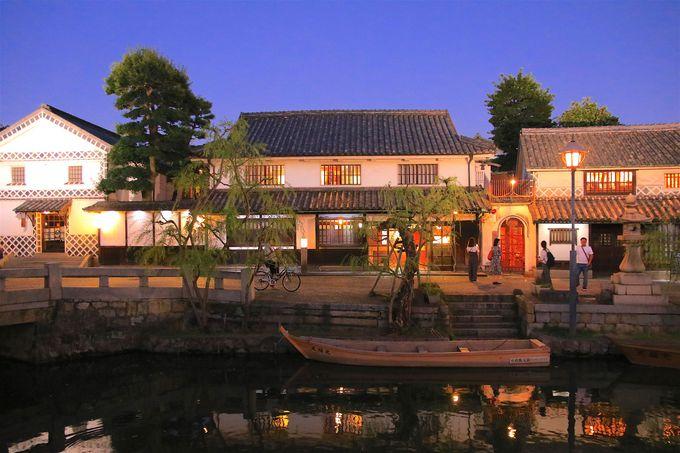 中橋から眺める夜の「倉敷美観地区」!夜景が極上の美しさ
