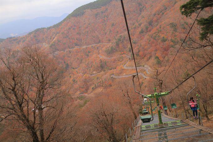 見ノ越から観光リフトで「剣山」の山上世界へ