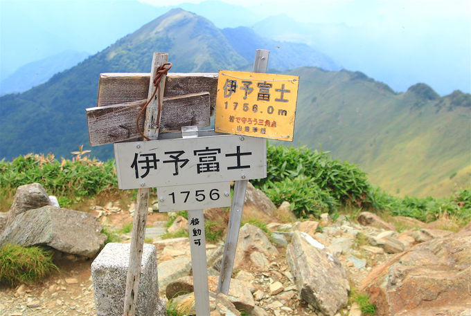 ゴールには絶景!美しきUFOラインと石鎚連峰のコラボ