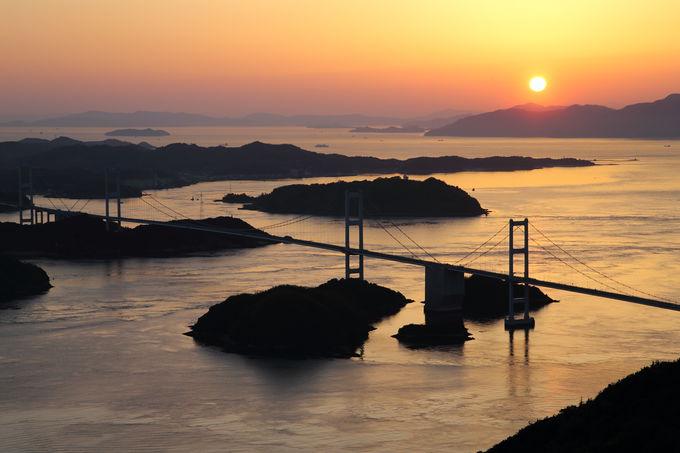 夕暮れの来島海峡!運が良ければ出会える「しまなみ」随一の絶景