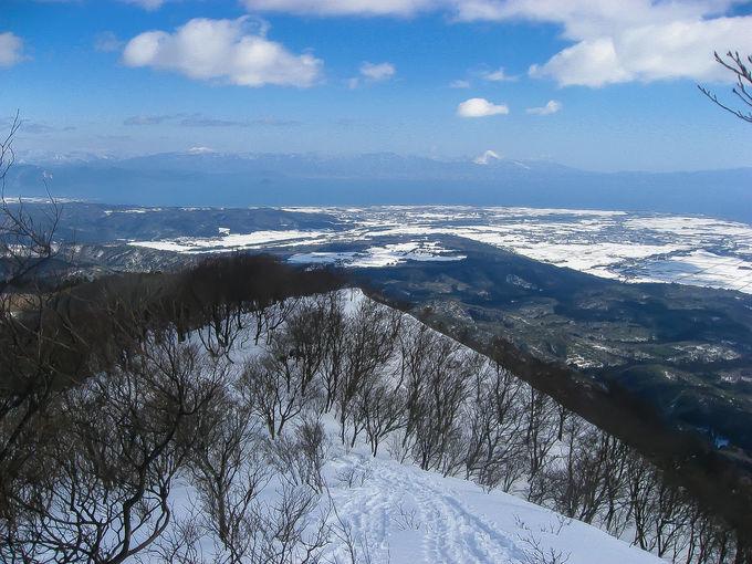 目の前には琵琶湖の雪景色!高島「蛇谷ヶ峰」