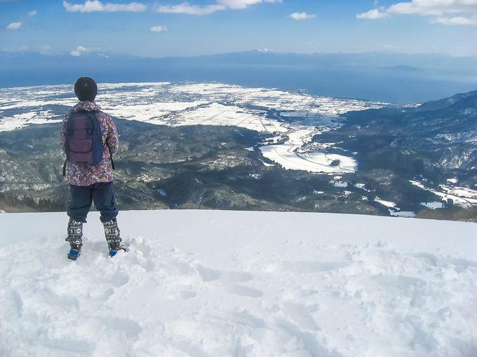 大パノラマの琵琶湖の雪景色!「蛇谷ヶ峰」山頂が絶景