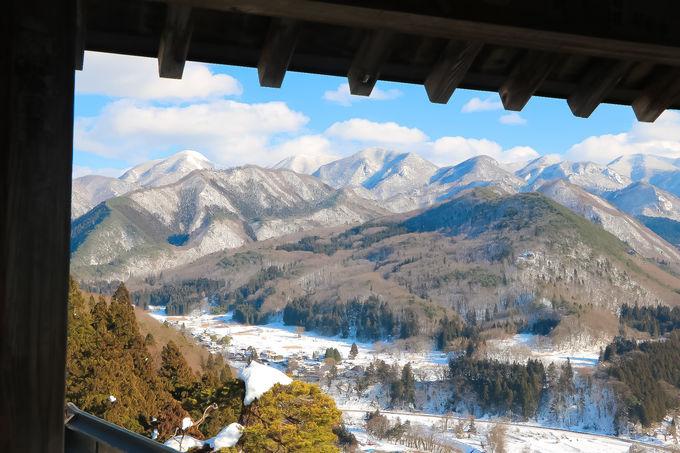 五大堂に広がる美しすぎる雪景色!白銀の奥羽山脈がそこに