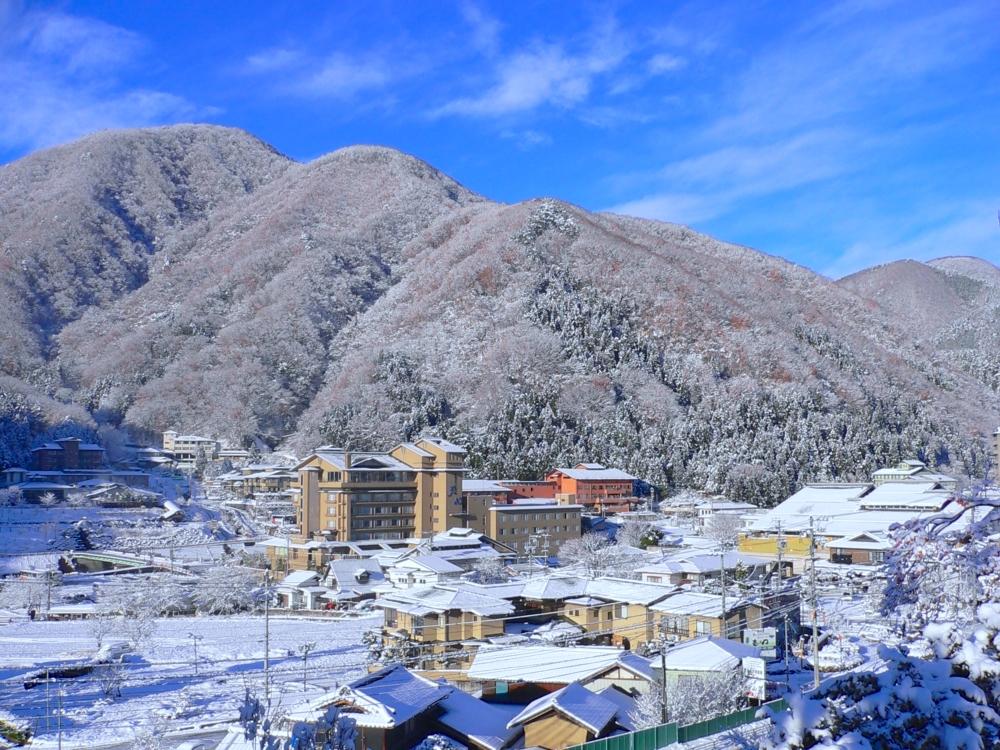 美しい雪山世界を満喫して、南信最大の「昼神温泉」へ