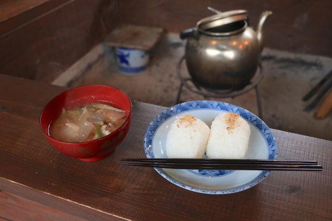 壱岐米おにぎり&豚汁も!ほっこりメニューが嬉しい