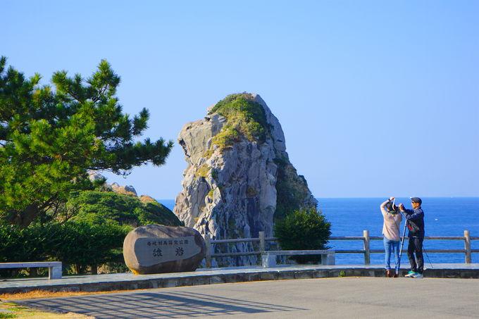 真っ青な大海原に映える「猿岩」二つの見所!