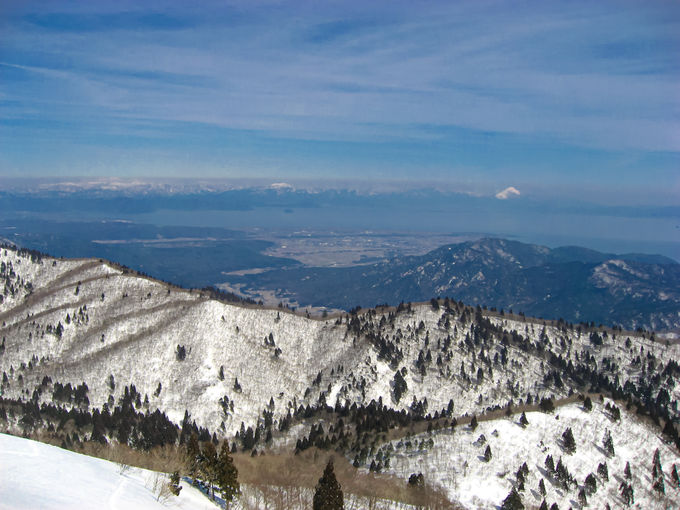 御殿山からみる「武奈ヶ岳」の雄峰!美しき西南稜