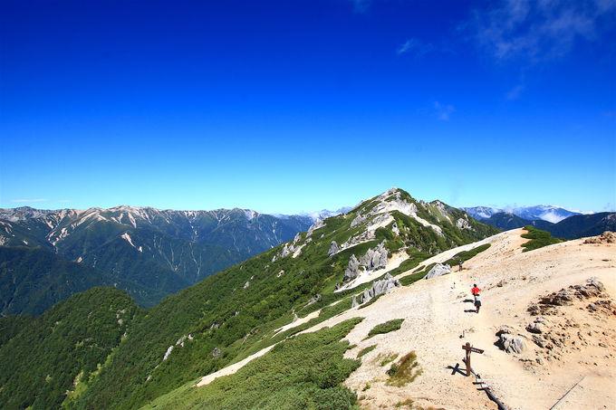 樹林を越えてアルプスの大展望!中房温泉から「燕岳」日帰り登山