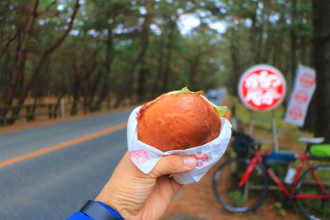 下山後は「虹の松原」で絶品からつバーガーを食べよう!