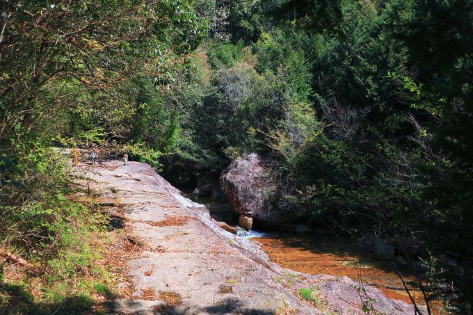 エメラルド色の水や苔むす森!情緒たっぷりな「乳岩峡」