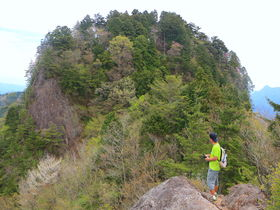 野趣溢れる登山道!東海自然歩道の最難所「平山明神山」へ