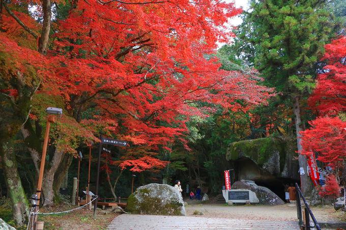 名僧行基ゆかりの地!「岩のほこら」は紅葉包み込む絶景
