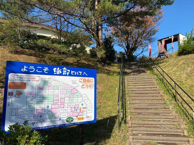 道の駅「志野・織部」から階段を上がれば、焼き物ワールド!