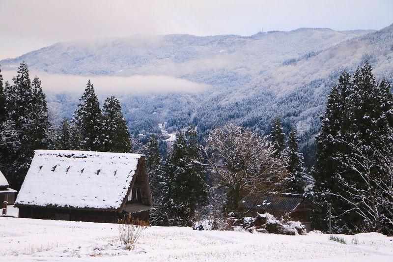 霧氷の絶景に包まれる!富山の世界遺産「五箇山合掌造り集落」の冬