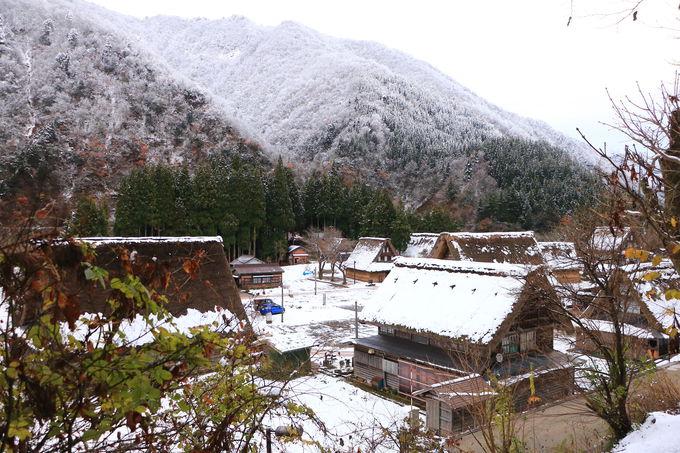 霧氷が囲む!小さな「菅沼合掌造り集落」は癒しの原風景