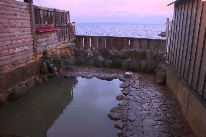 海を眺めながら極上掛け流し露天へ浸かろう!