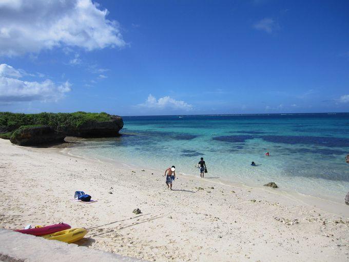 隠れた名ビーチも多い池間島の【フナクスビーチ(池間ブロック)】