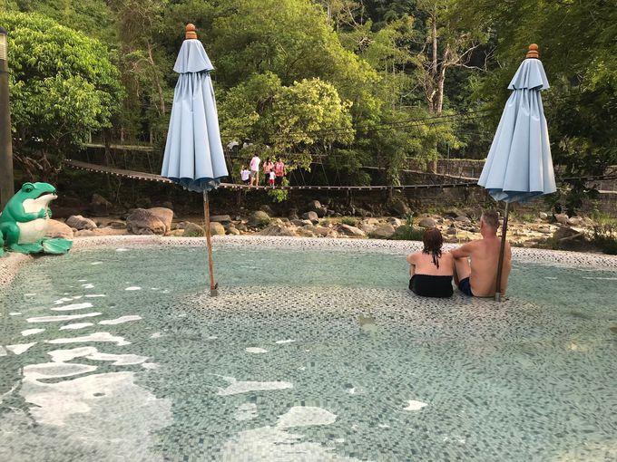 自然の中にある温泉で癒される