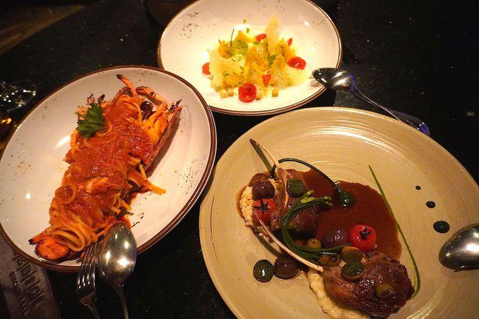 豪華で彩り豊かな創作イタリアンをホテルのレストランで
