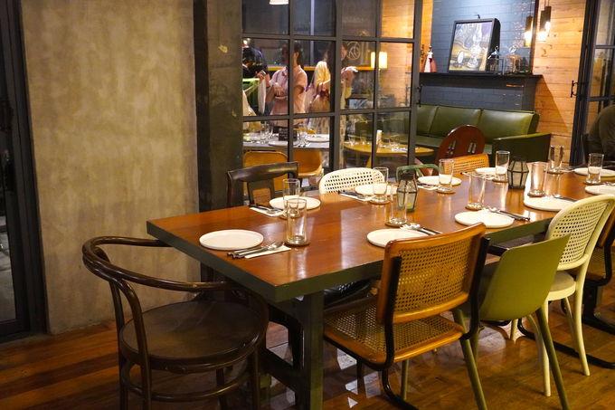 ディナーの後はオシャレなバー「Lampara」で乾杯