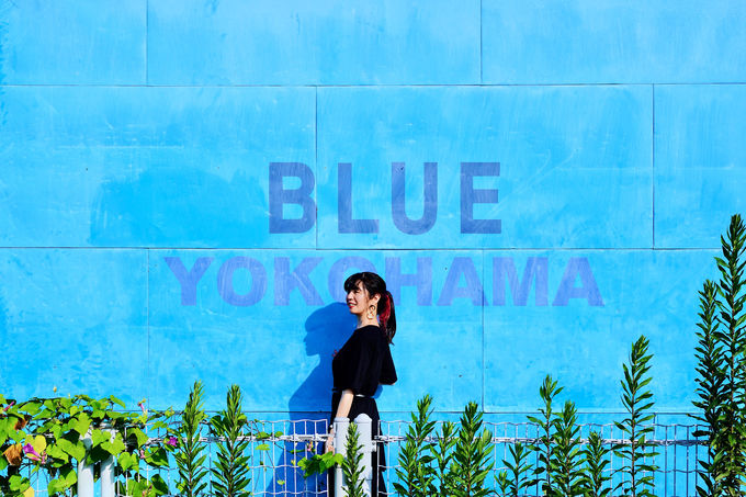 横浜港近くのBLUE(ブルー)なインスタ映えショップでお買い物
