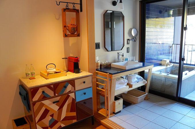 天然湯の部屋風呂つき!オシャレな発見が楽しいお部屋
