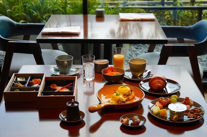 和洋選べる朝食と館内のフォトジェニックなデザイン