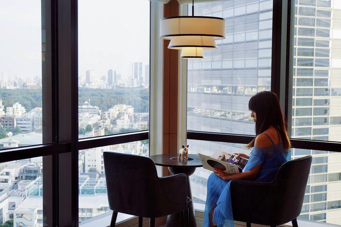 大きな窓から新宿の町を見渡せるスタイリッシュなお部屋