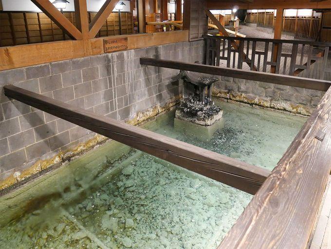 草津でもっとも古いお湯、白旗源泉