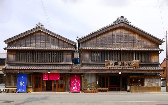老舗のお店が描く二見浦の波「御福餅」