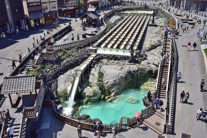 草津温泉のシンボル、湯畑