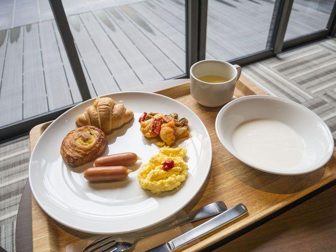 素泊まりの宿ですが、無料の朝食も