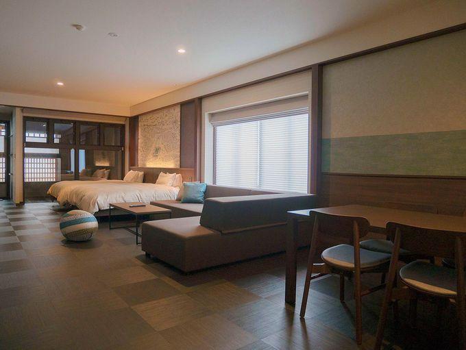 露天風呂付客室など部屋は多彩な10タイプ
