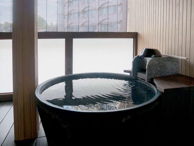 自家源泉「新地蔵の湯」に入れる、個室タイプの貸切風呂