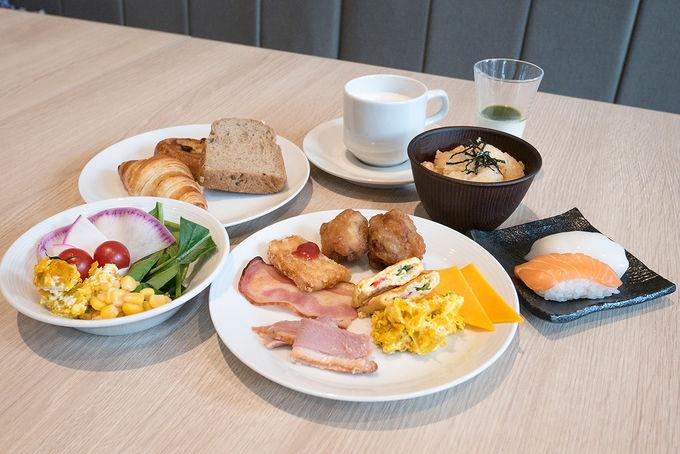 地元食材でこだわりの朝食