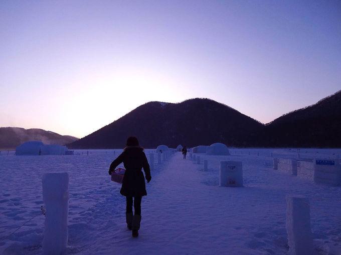 感動!氷点下22度の日の出を見る