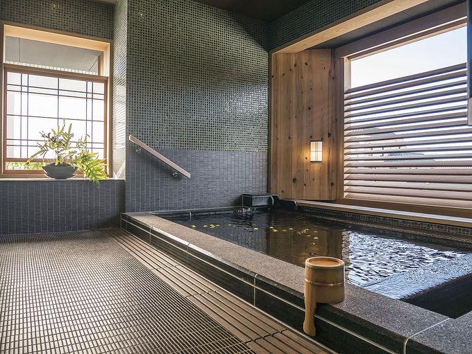 貸切風呂の景色に驚き