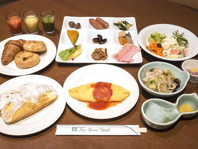 朝食ビュッフェは群馬県の食材も