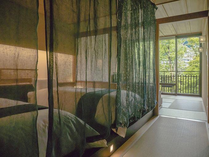 露天風呂つき客室で温泉を独占