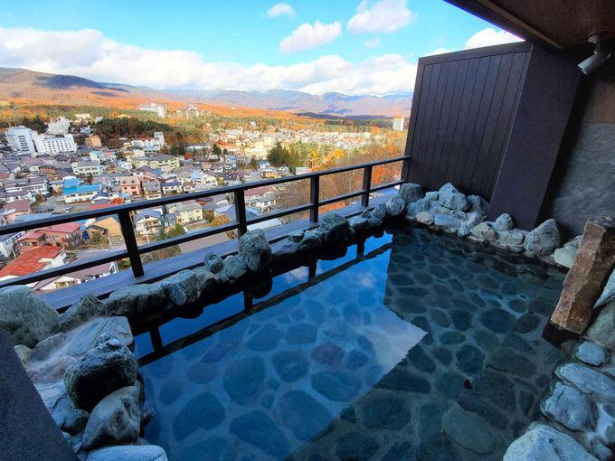 草津温泉随一の眺望風呂
